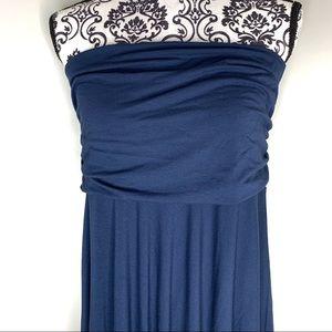 Tommy Bahama Blue Strapless Stretchy Dress Size L
